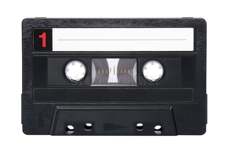 Retro- Magnetband für Tonaufzeichnungen getrennt lizenzfreies stockfoto