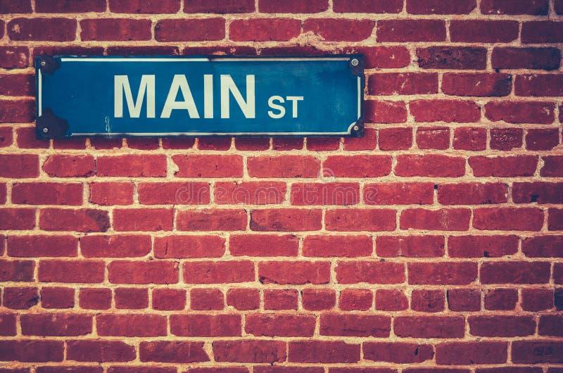 Retro Main Street Sign stock images
