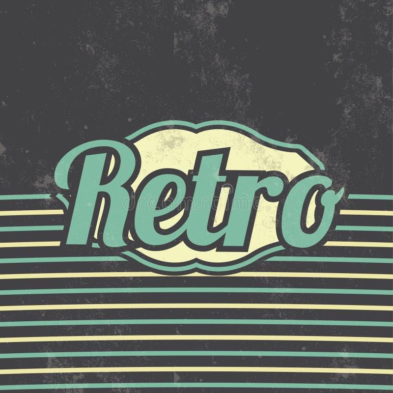 Retro Malplaatjeontwerp - Uitstekende Achtergrond royalty-vrije illustratie