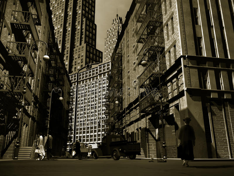 Retro Manhattan vector illustratie