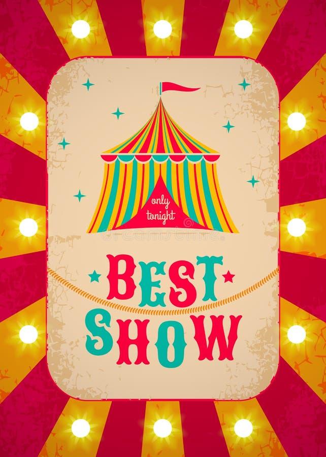 Retro manifesto del circo illustrazione di stock