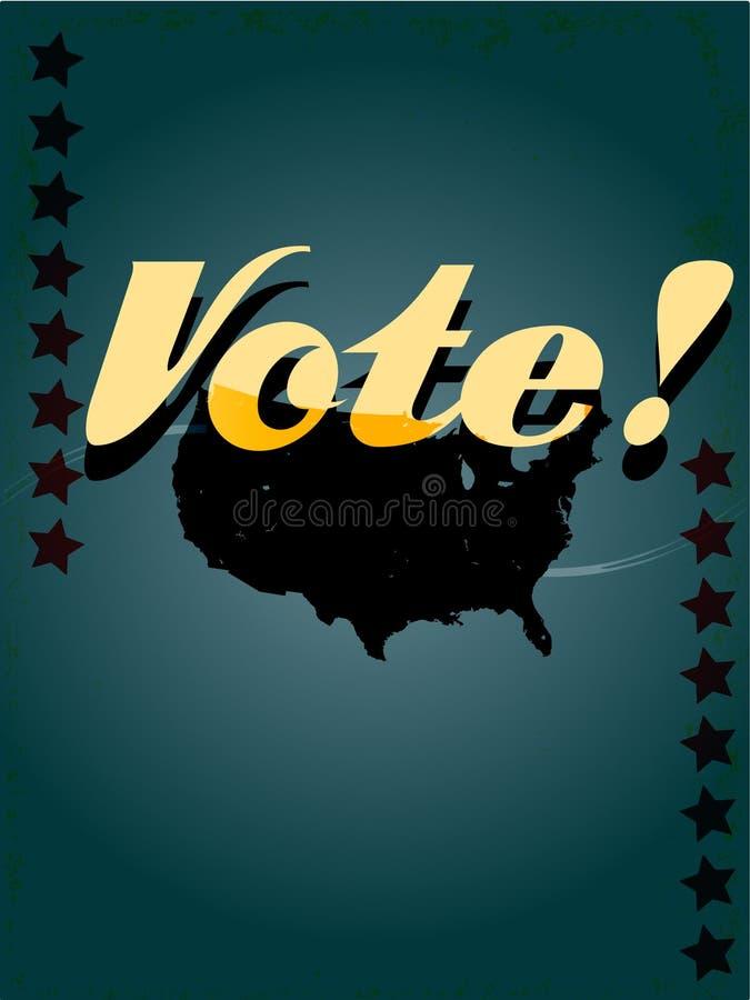Retro manifesto di voto illustrazione vettoriale