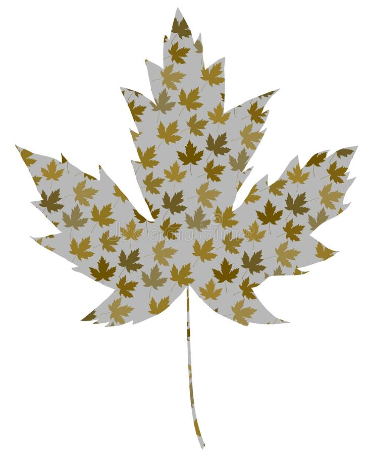 Retro Maple leaf royalty free stock photos