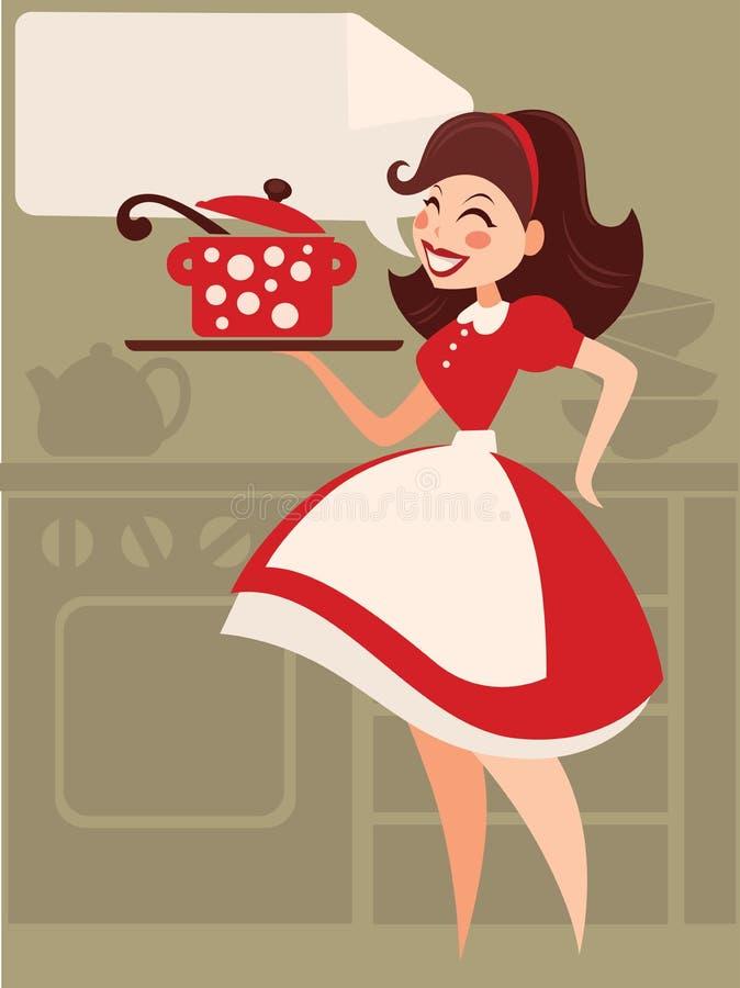 Retro matlagning vektor illustrationer