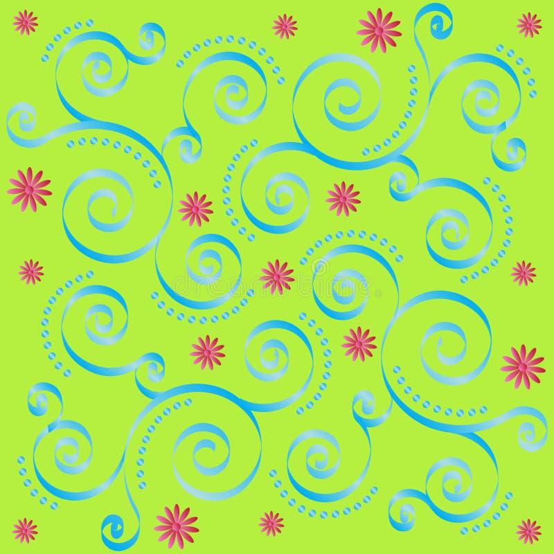 Retro mattonelle floreali royalty illustrazione gratis