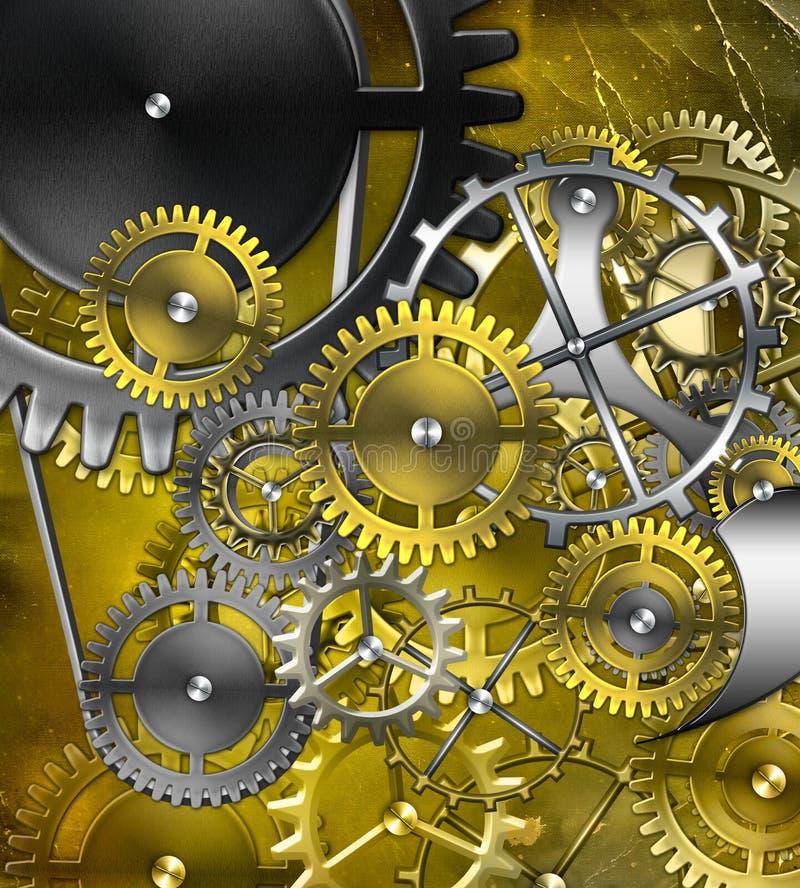 Download Retro mechanism stock illustration. Image of aged, machine - 18894586
