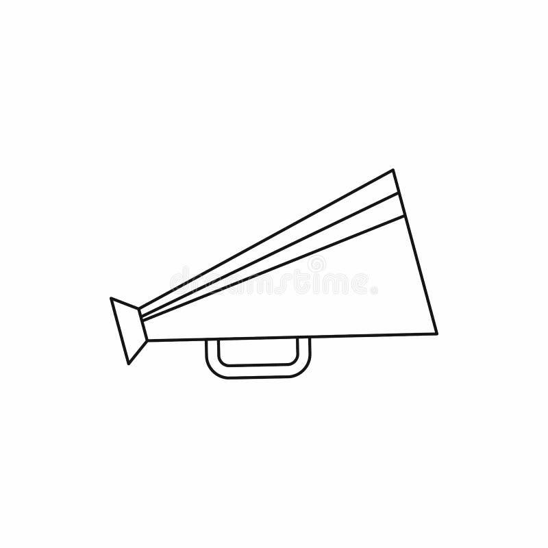 Retro megafon ikona, konturu styl obraz royalty free