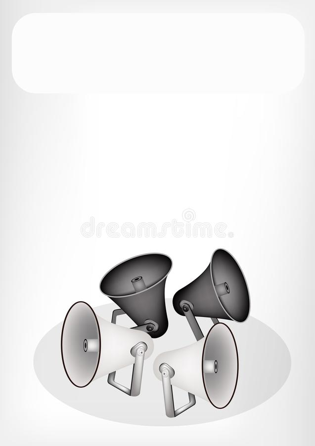Download A Retro Megaphone With A White Banner Stock Photo - Image: 32289730