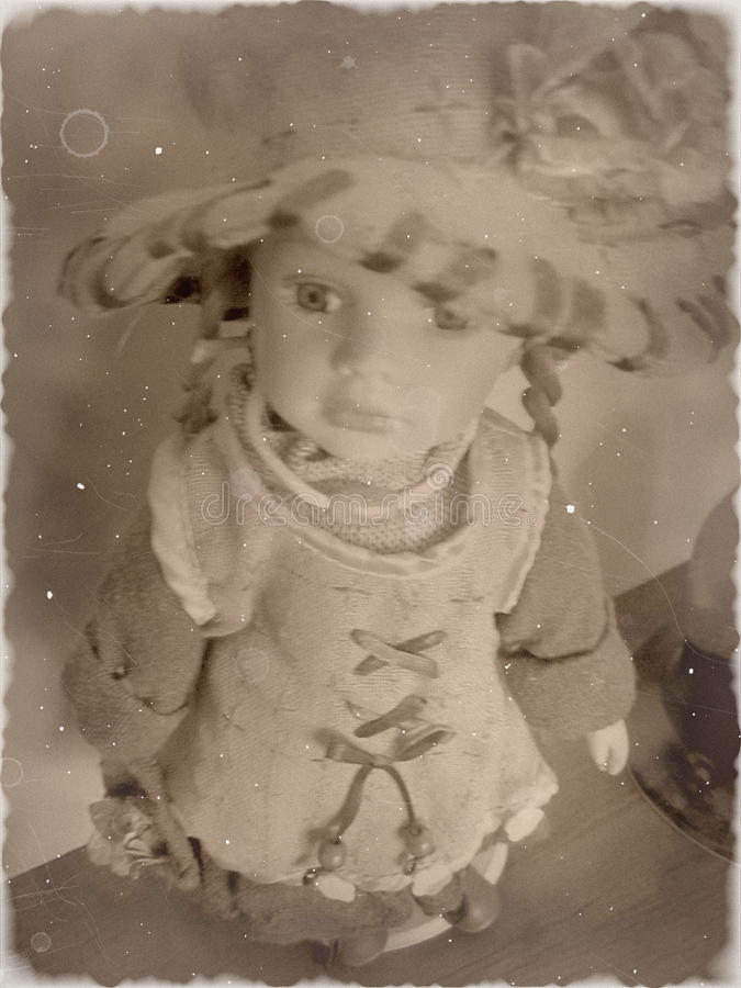 Retro meisje royalty-vrije stock fotografie