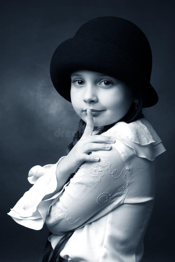 Retro meisje stock foto