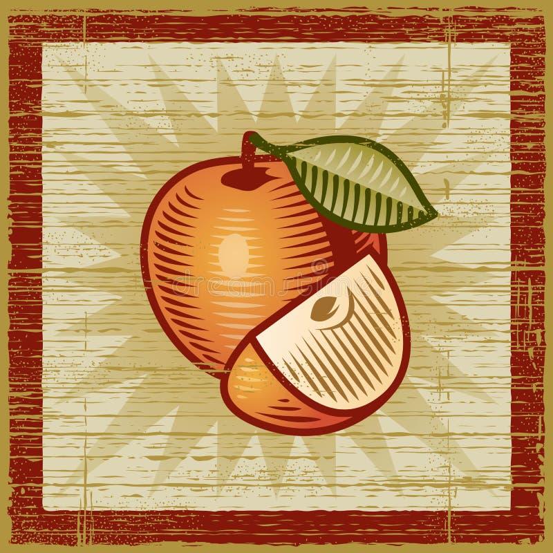 Retro mela royalty illustrazione gratis