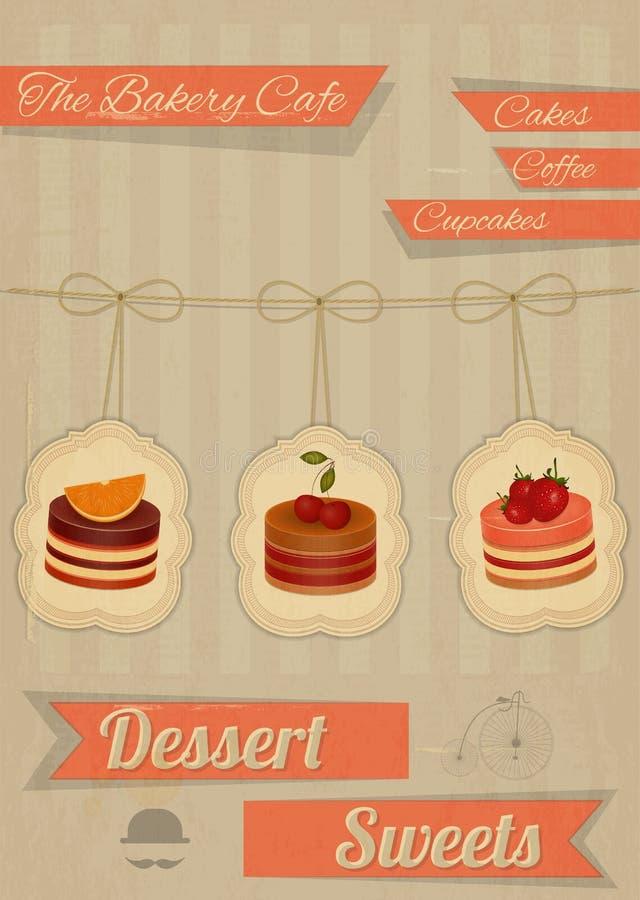 Retro Menu for the Cafe, Pastry Shop
