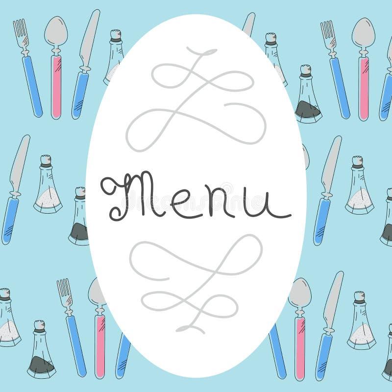 Download Retro Menu Design With Hand Drawn Lettering. Flat Vector Stock Illustration - Illustration of icon, design: 90451745