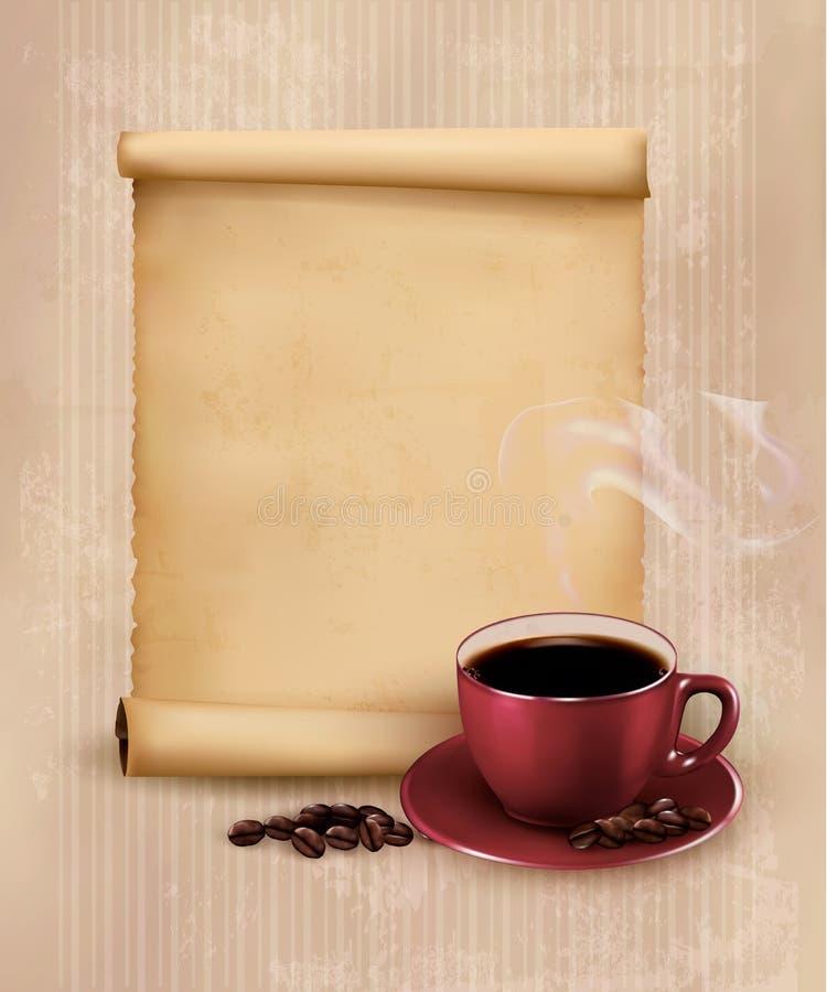 Retro menu dla restauraci. Kawowy projekta szablon. ilustracja wektor