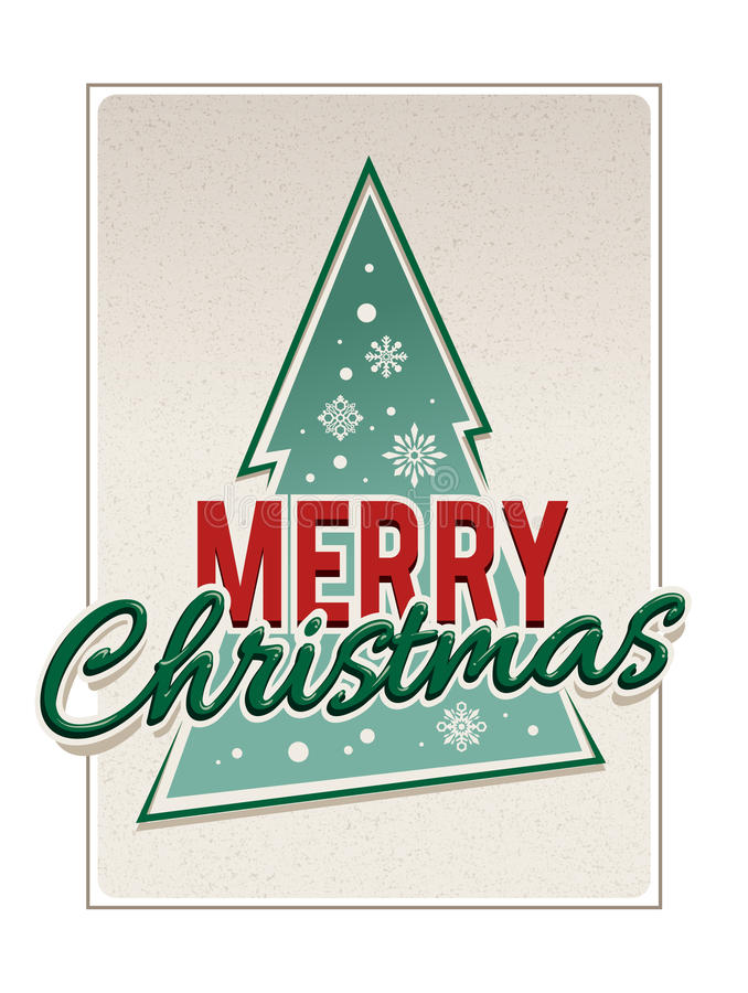 Download Retro Merry Christmas Typography Stock Vector - Illustration of style, year: 35287742