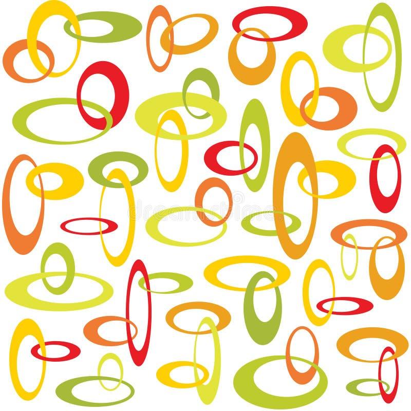 Retro met elkaar verbindende cirkels vector illustratie