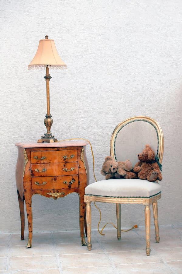 Retro meubilair royalty-vrije stock fotografie