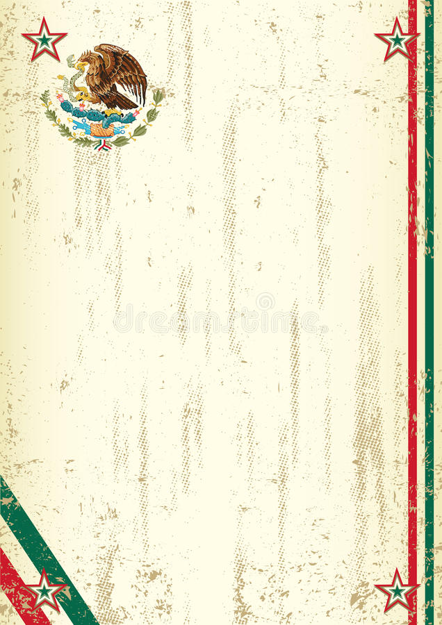 Retro Mexicaanse achtergrond vector illustratie