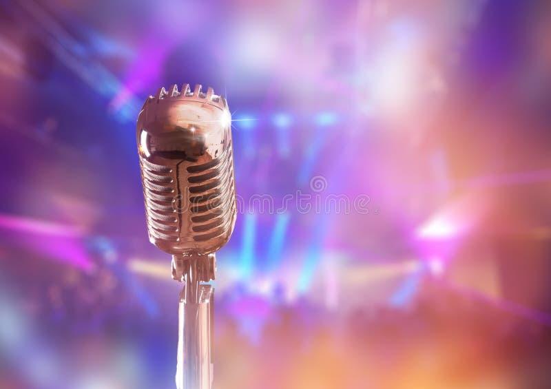 Retro microfono fotografie stock libere da diritti