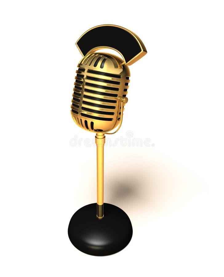 Retro microfono illustrazione di stock