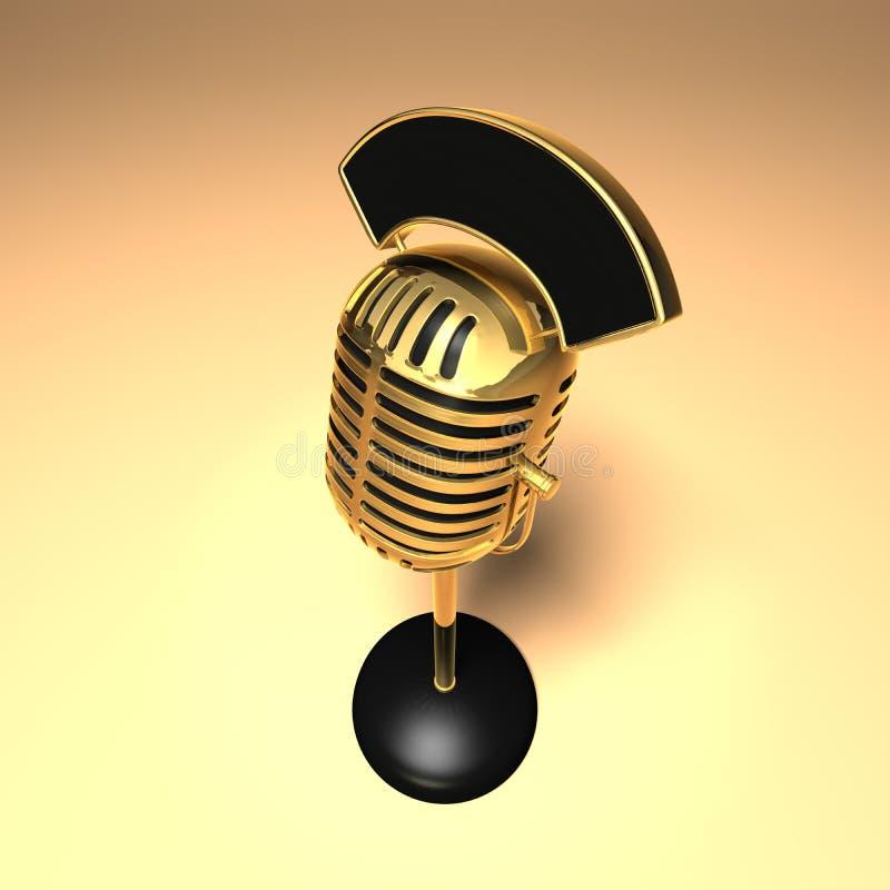 Retro microfono royalty illustrazione gratis