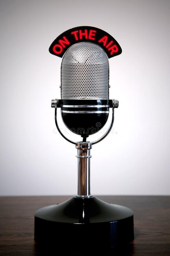 Retro microfoon royalty-vrije stock foto's