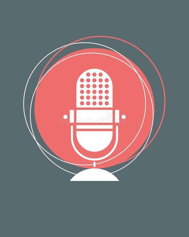 Retro microfoon n royalty-vrije stock foto