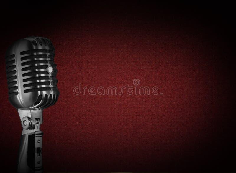 Retro microfoonachtergrond royalty-vrije stock foto