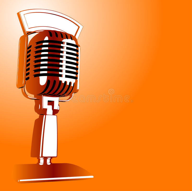 Retro Microphone royalty free illustration