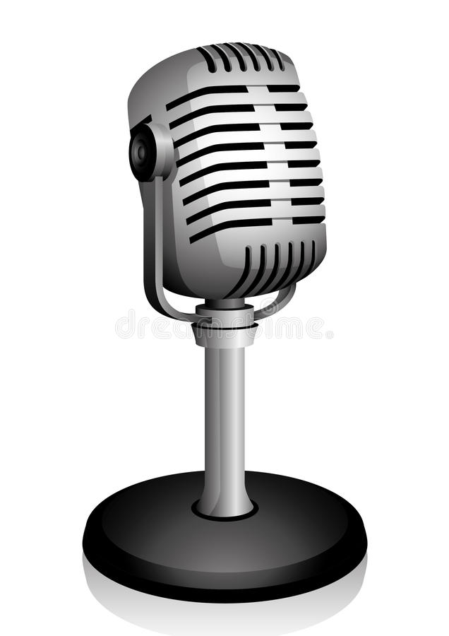 Download Retro microphone. stock vector. Image of illustrated - 21832828