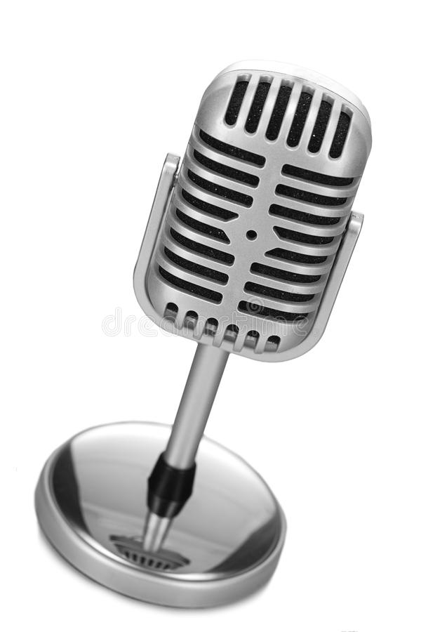 Download Retro microphone stock image. Image of professional, record - 24891011