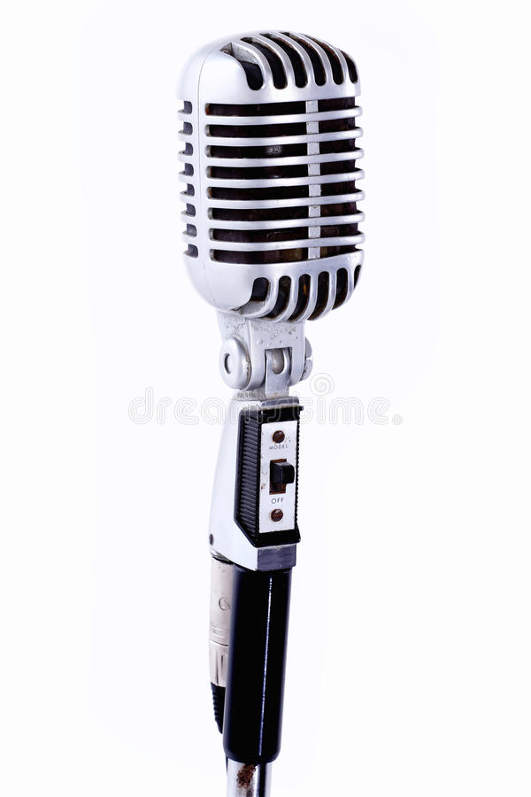 Download Retro microphone stock photo. Image of switch, single - 26560442