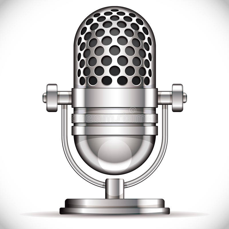 Retro microphone. Retro style microphone vector illustration stock illustration