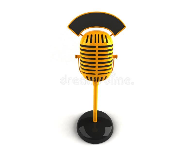 Retro microphone stock illustration