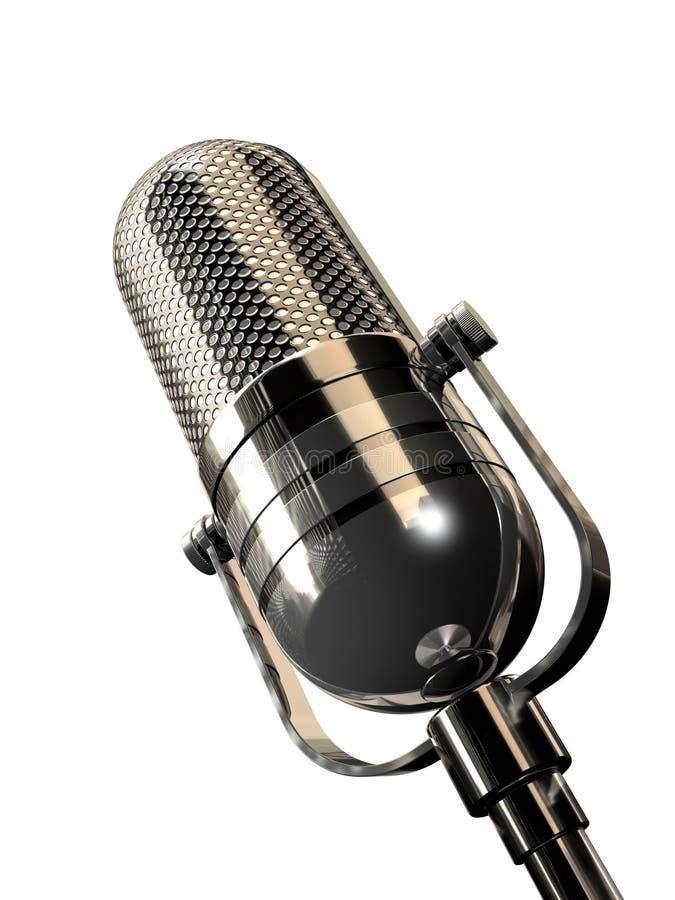 Retro microphone. Rendered retro microphone stock illustration