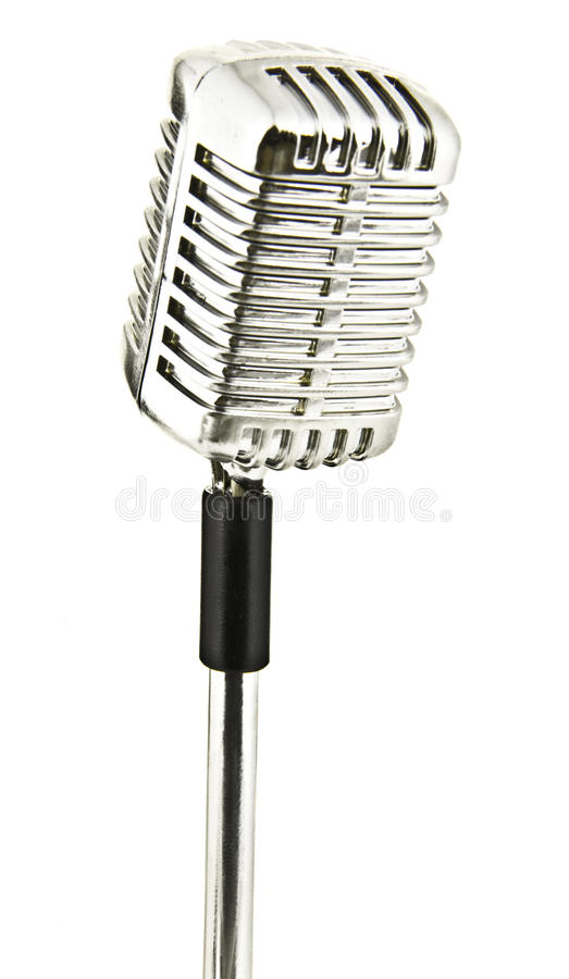 Retro microphone stock image