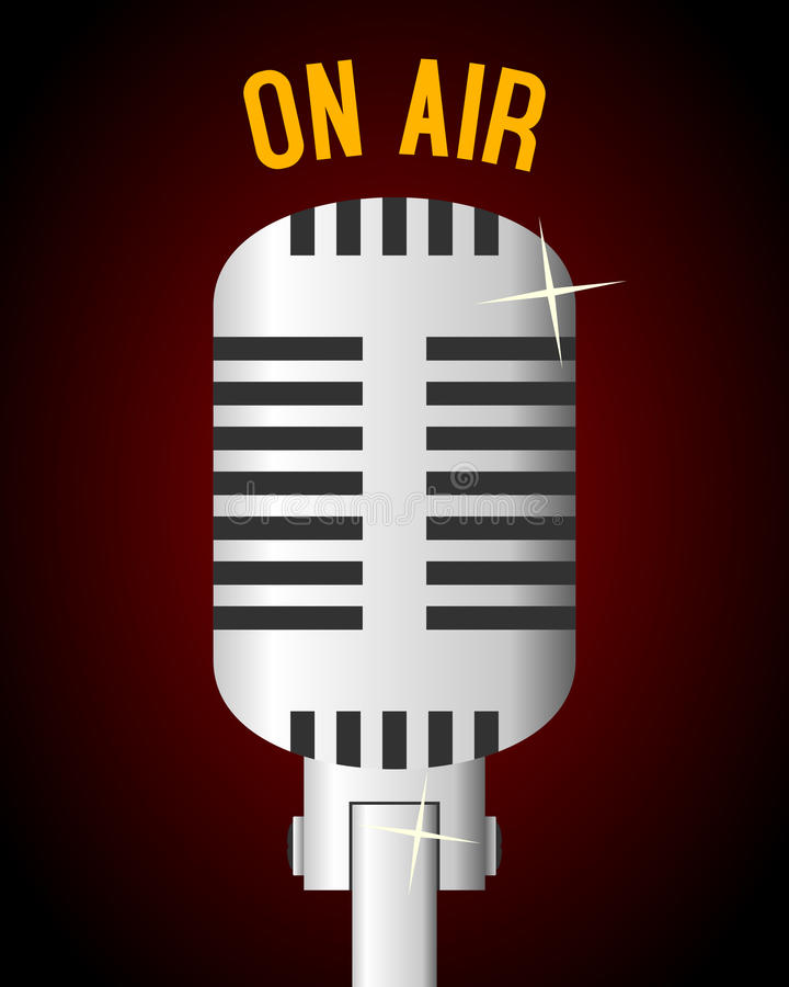Retro Microphone Background vector illustration