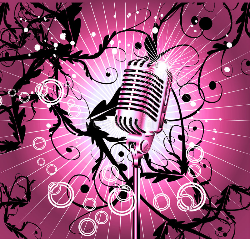 Retro microphone background royalty free stock image