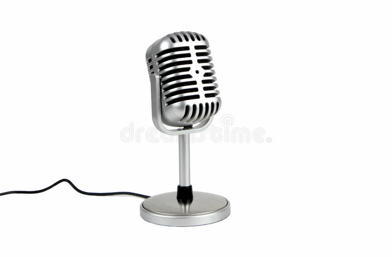 Retro microphone. ( Dynamic microphone ) stock photography