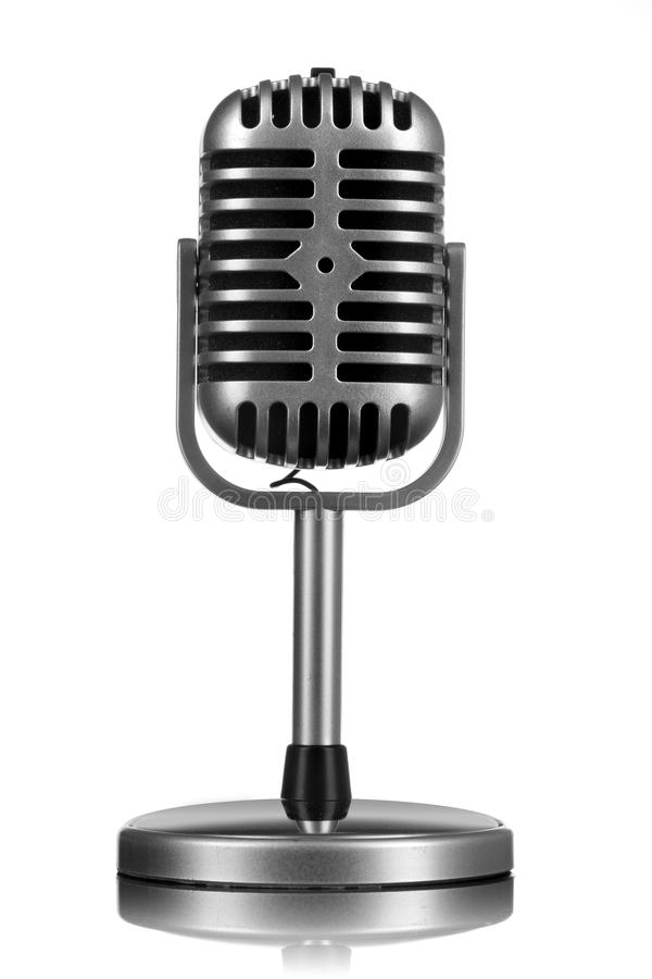 Retro microphone isolated stock images