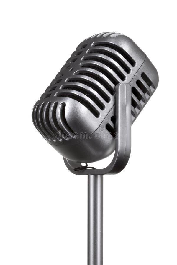Retro microphone isolated stock photos