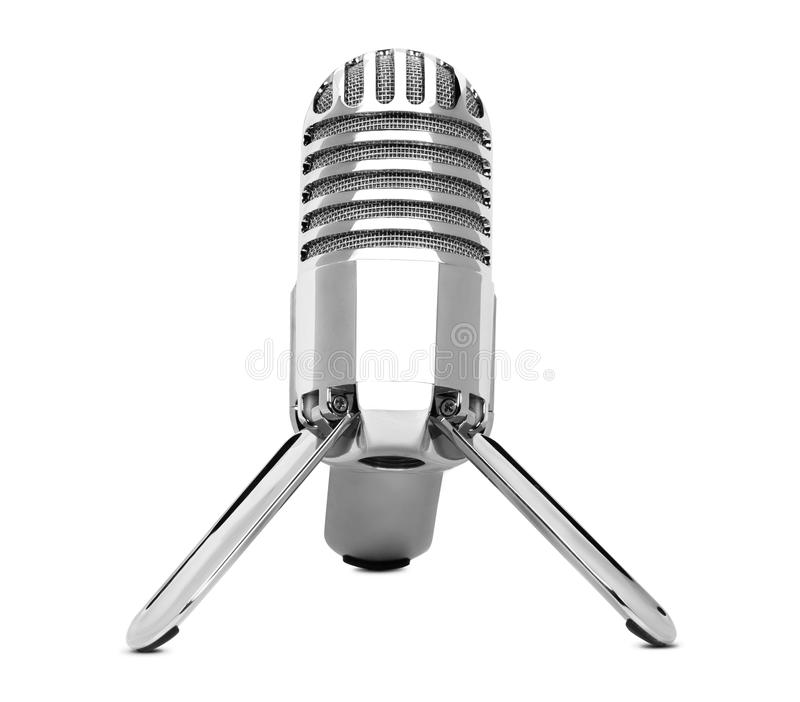 Retro microphone isolated stock photography