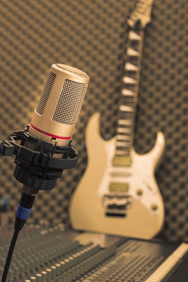 Retro microphone royalty free stock photos