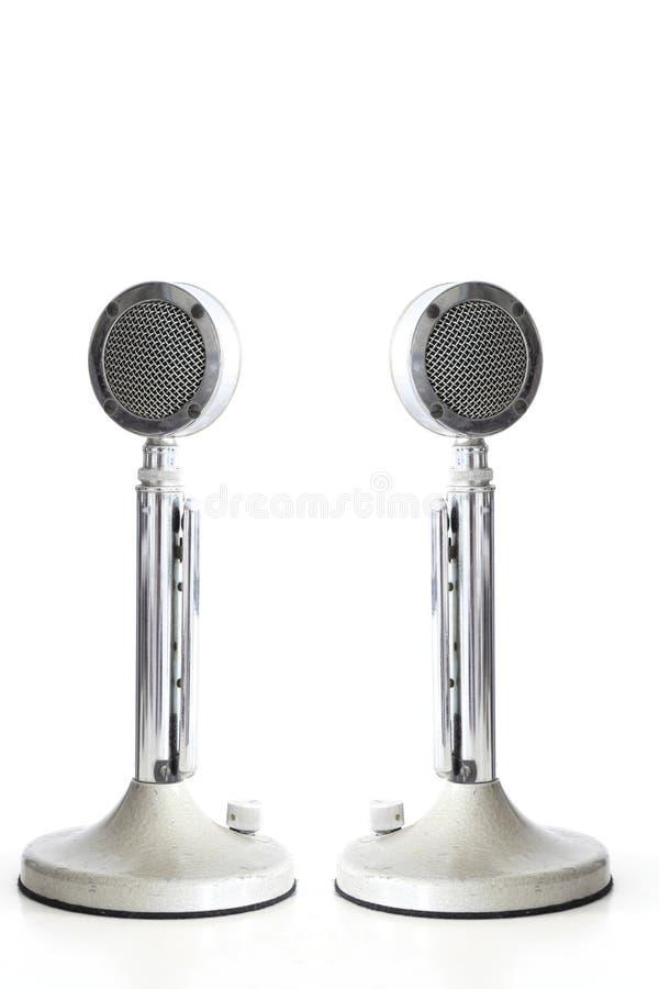 Retro Microphones stock photos