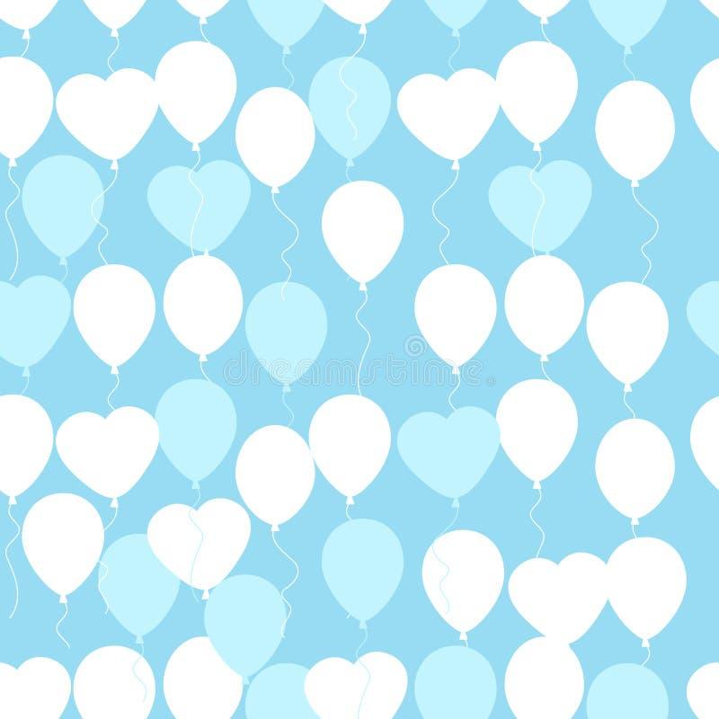 Retro mieszkanie balonów wzór Wielki dla urodziny, ślub, annive royalty ilustracja