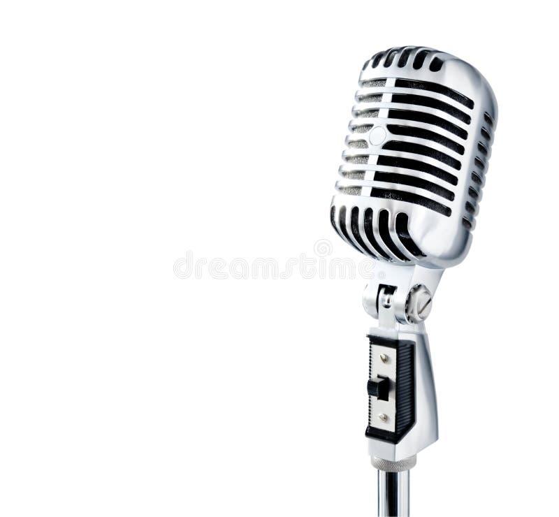 retro mikrofon arkivfoton