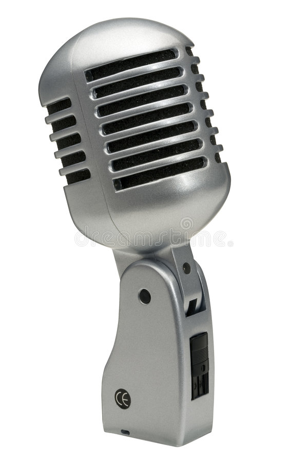retro mikrofon royaltyfria bilder