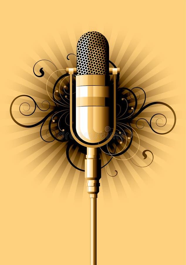 retro mikrofon royaltyfri illustrationer