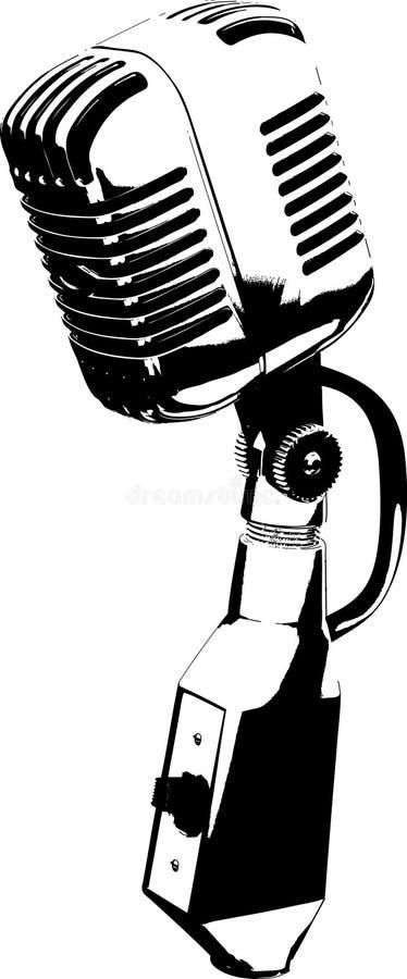 retro mikrofon stock illustrationer