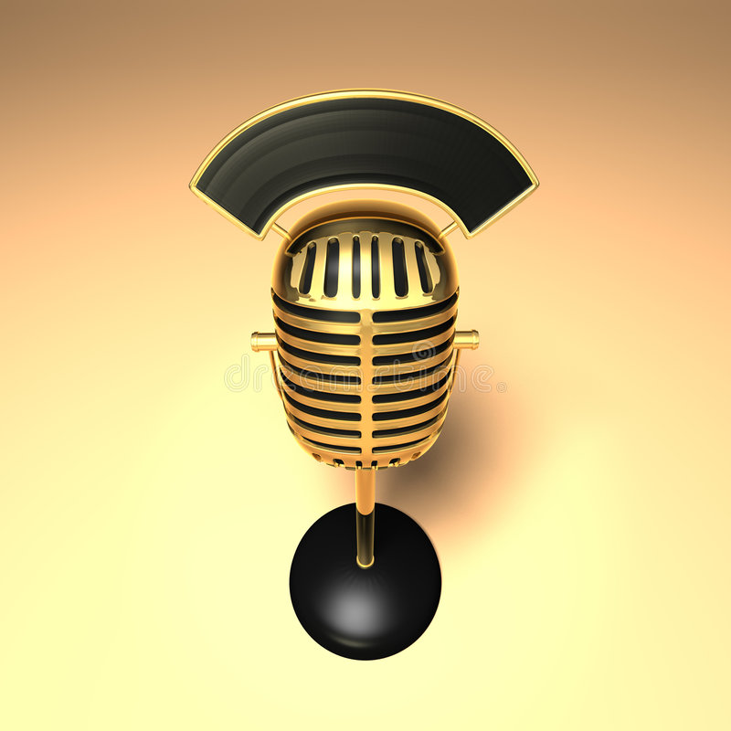 Download Retro mikrofon stock illustrationer. Illustration av natt - 993268